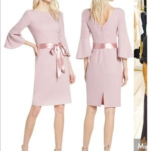 CHIU CHI LONDON Louanna Satin Tie Cocktail Dress